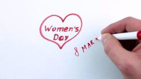 День ` s женщин 8-ого марта видеоматериал