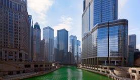 День ` s St. Patrick в городе Чикаго, Green River, Иллинойсе, США Стоковые Фото