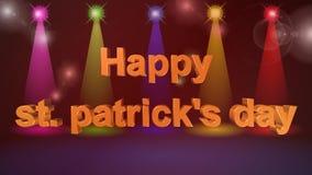 День St. Patrick, анимация видеоматериал