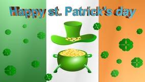 День St. Patrick, анимация акции видеоматериалы