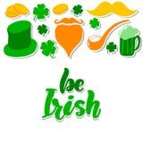 День St. Patrick установил с иллюстрация штока