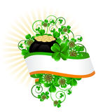 День St. Patricks поздравительной открытки Стоковое Изображение RF