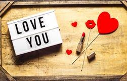 День valentine's St плоский Стоковая Фотография