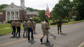 Депо Вашингтона, CT, США 05 30 2016 участников парада дня ветеранов Стоковые Фотографии RF