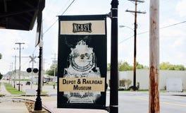 Депо и музей железной дороги, Джексон Теннесси Стоковое Фото