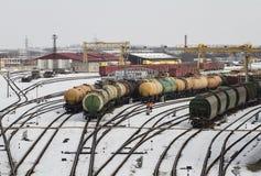 Депо поезда в Klaipeda Стоковое Фото