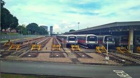 Депо MRT в Сингапуре стоковая фотография