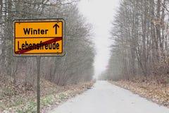 Депрессии зимы Стоковая Фотография