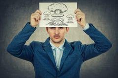 Депрессия в вашей голове Стоковые Фотографии RF