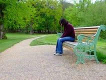 Депрессия - молодая женщина Стоковое Фото
