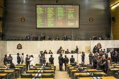 депутаты государства обсуждают законы внутри законодательная ассамблея государства Сан-Паулу стоковое фото rf