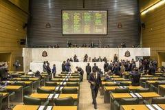 депутаты государства обсуждают законы внутри законодательная ассамблея государства Сан-Паулу стоковое фото