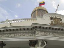 Депутаты К центру города Каракас Венесуэла политики конгресса Capitolio национального собрания стоковая фотография
