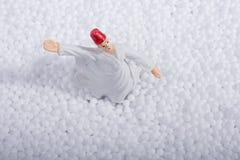 Дервиш Sufi завихряясь на белых шариках полистироля Стоковая Фотография