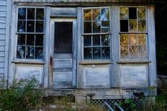 Деревенская дверь и Windows Стоковая Фотография