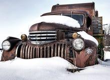 Деревенская винтажная тележка в Монтане Стоковые Фото