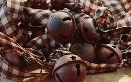 Деревенская гирлянда колоколов звезды Стоковое Изображение RF