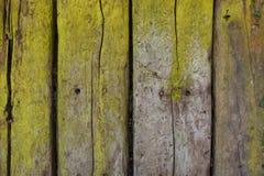 Деревенская деревянная предпосылка с зеленым шламом Стоковые Фотографии RF