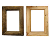 Деревенская деревянная рамка, фронт и задняя часть Стоковые Изображения
