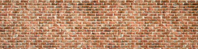 Деревенская красная кирпичная стена Стоковое Изображение