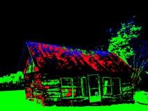 Деревенская неоновая кабина Стоковое фото RF