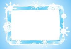 Деревенская рамка снежинки или граница 2 Стоковое Изображение