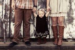 Деревенская семья Стоковое Изображение RF