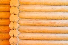 Деревенская стена кабины журнала Стоковое Фото