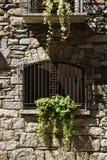 Деревенская стена с окном, итальянским стоковое изображение rf