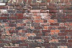 Деревенская текстура кирпичной стены Стоковые Изображения