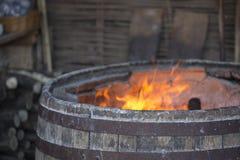 Деревенская хлебная печь Национальные традиции Стоковое Изображение