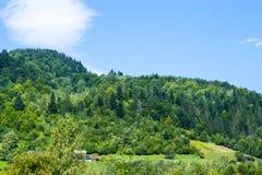 Деревенские дома на холме Стоковые Фотографии RF