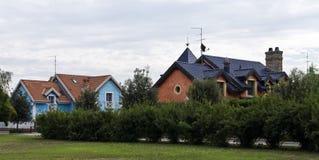 деревенские дома Стоковая Фотография