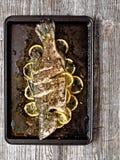 Деревенские испеченные рыбы Стоковое Изображение RF