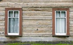 деревенские окна Стоковое фото RF