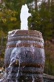 Деревенские старые бочонки снимая воду из верхней части Стоковое Изображение