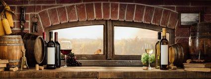 Деревенский винный погреб в сельской местности стоковая фотография rf