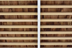 Деревенский деревянный потолок Стоковое фото RF