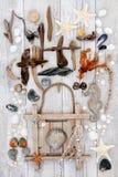 Деревенский знак пляжа и искусство пляжа стоковое изображение rf