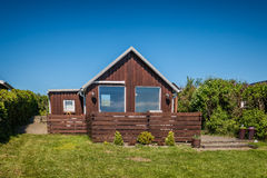 Деревенский дом отдыха в Sjelborg около Esbjerg, Дании Стоковое Фото