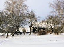 Деревенский дом бесплатная иллюстрация