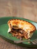 Деревенский пирог мяса и гриба Стоковая Фотография