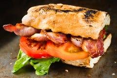 Деревенский сандвич BLT стоковые изображения rf
