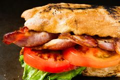 Деревенский сандвич BLT стоковое изображение
