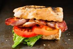 Деревенский сандвич BLT стоковые изображения