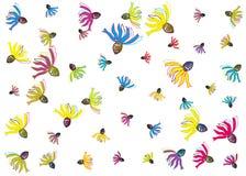 Деревенский цветочный узор иллюстрация штока