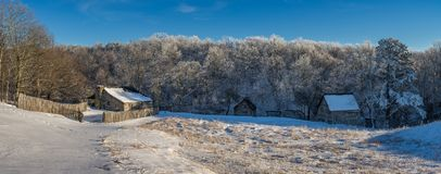 Деревенский farmstead, национальный парк зазора Камберленда стоковые изображения