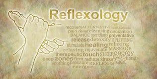 Деревенское знамя облака слова Reflexology Стоковая Фотография RF