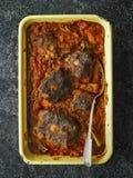 Деревенское итальянское тушёное мясо oxtail стоковая фотография rf