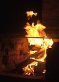 деревенское камина напольное Стоковая Фотография